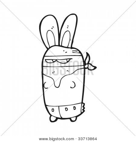 cartoon bunny bandit