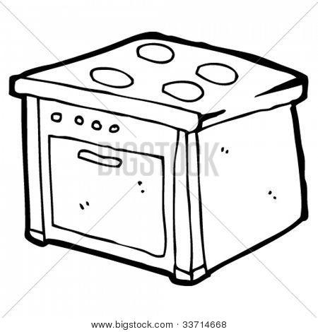 Dibujo animado para colorear estufa - Imagui