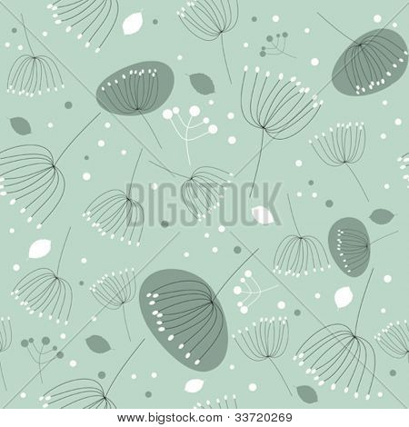 Seamless floral pattern, texture with flowers and leaves