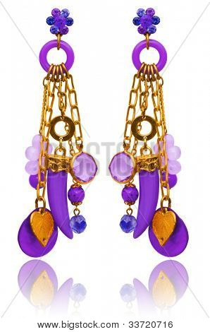 Jewellery and fashion concept with earrings
