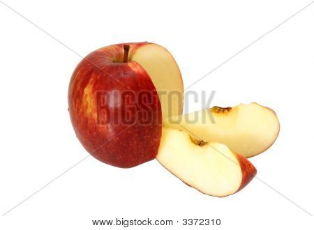 Apple With Two Slices