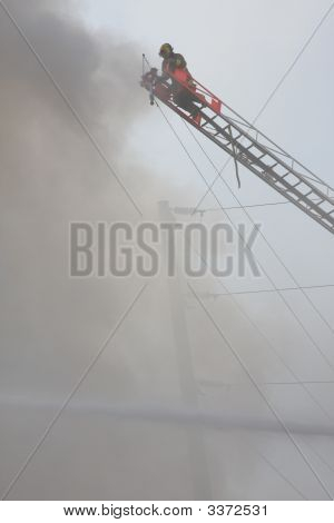 Tall Ladder Fire Fighter