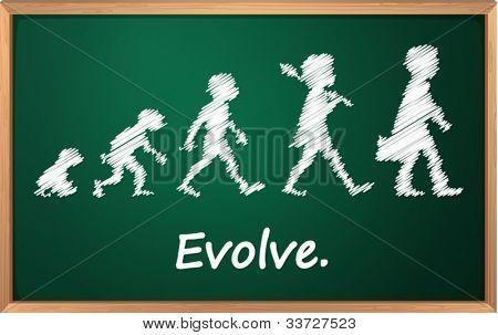 Evolution on a detailed blackboard
