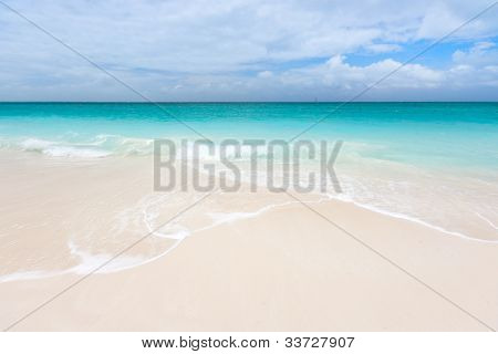 Stunning beach at Caribbean Providenciales island in Turks and Caicos
