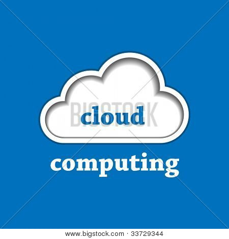 Cloud computing identity template. Vector illustration