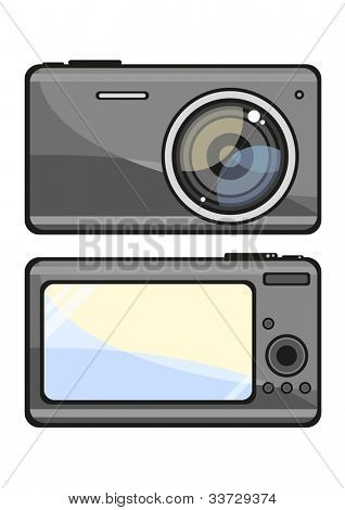 Illustration of a photo camera