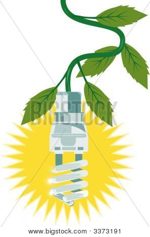 Compact Fluorescent Light With Leaves