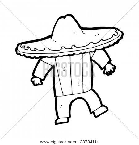 cartoon mexican stereotype man