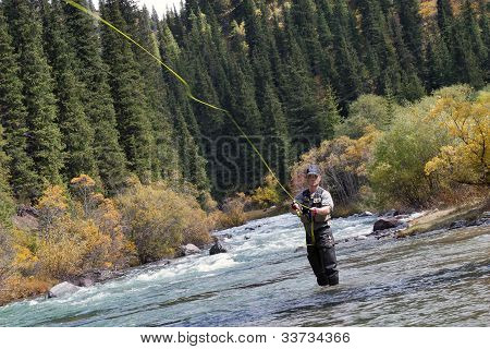 Fisherman Fly Fishing