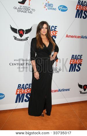 LOS ANGELES - MAY 18: Khloe Kardashian at the 19th Annual Race to Erase MS gala held at the Hyatt Regency Century Plaza on May 18, 2012 in Century City, California