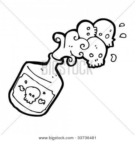 Vector y foto Botella De Veneno De Dibujos  Bigstock