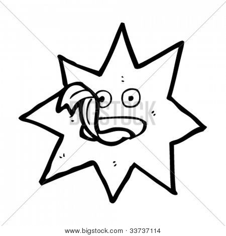 cartoon magic star character