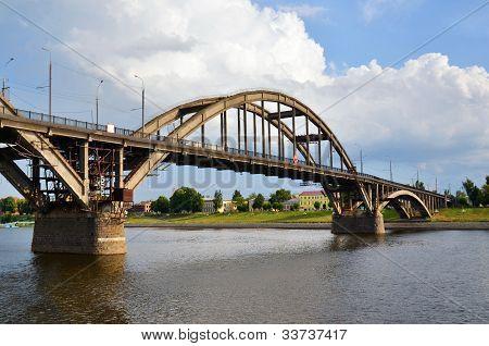 A Big Bridge Through The River
