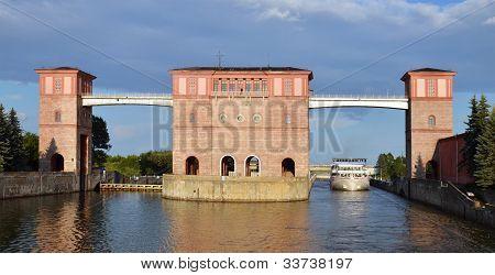 Sluice Gates On The River Volga, Russia