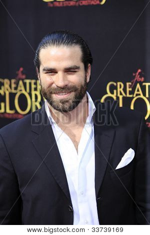 """LOS ANGELES - MAY 31:  Alejandro Nones arriving at the """"For Greater Glory"""" Premiere at AMPAS Theater on May 31, 2012 in Beverly Hills, CA"""