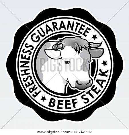 Beef Steak, Freshness Guarantee Seal