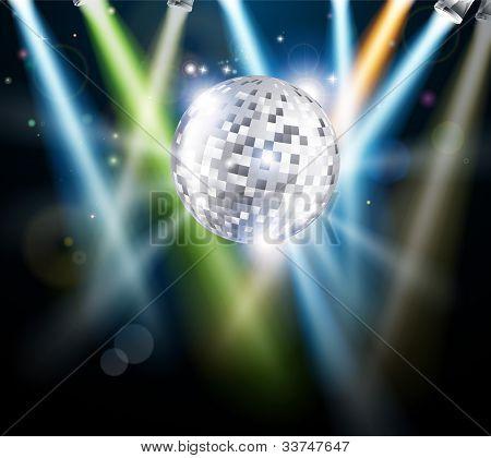Disco Spiegel Kugel Hintergrund
