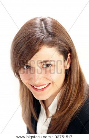 Portrait Of A Beautiful Smiling Woman