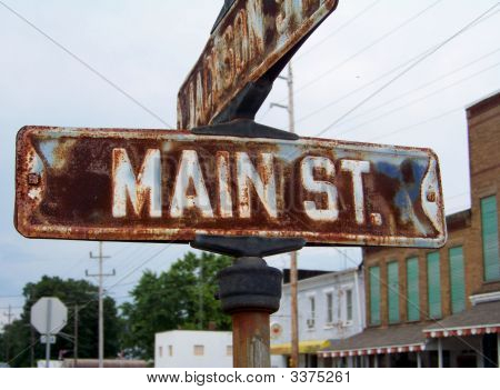 Sinal de vintage Main Street