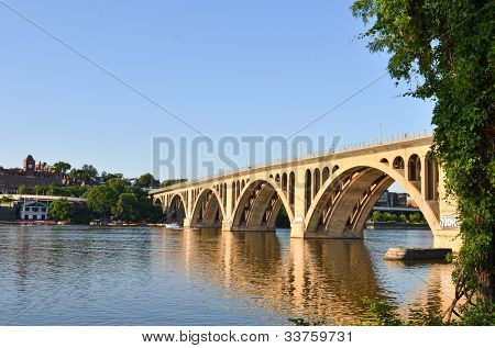 Washington DC - Key Bridge on Potomac River