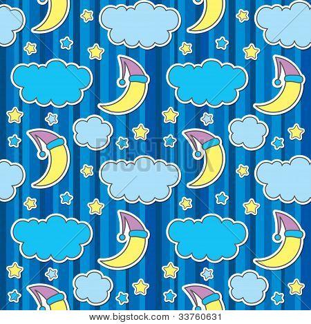 seamless pattern with night sky
