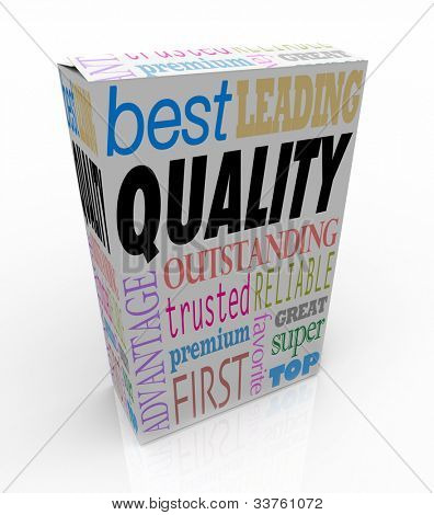 Quality makes your product stand out, with positive words and terms on the package such as best, leading, outstanding, great, trusted, reliable, premium, favorite and more