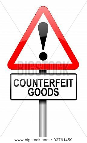 Counterfeit Goods Concept.