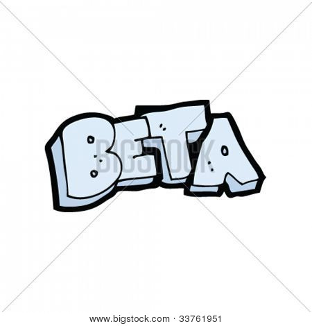 cartoon beta sign