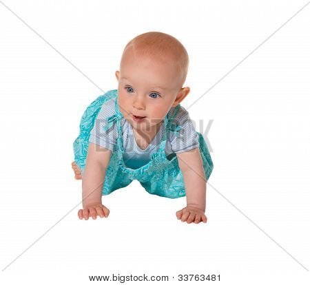 Adorable Crawling Baby Facing Camera
