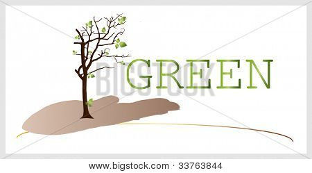 Abstract stylized tree. EPS10 vector.