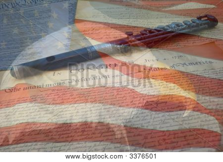 Eagle Flag And Declaration