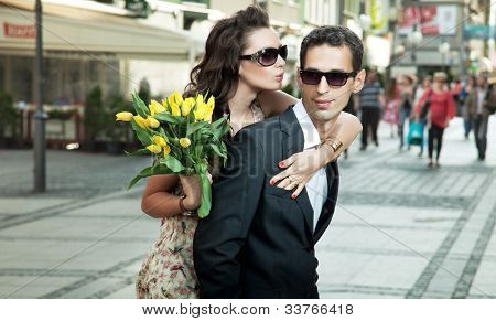 Young couple on date