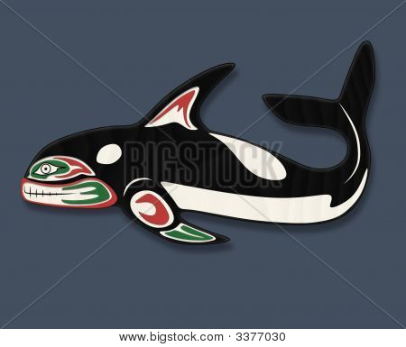 Orca Whale Totem