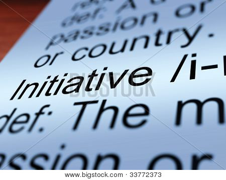 Initiative Definition Closeup Showing Resourcefulness