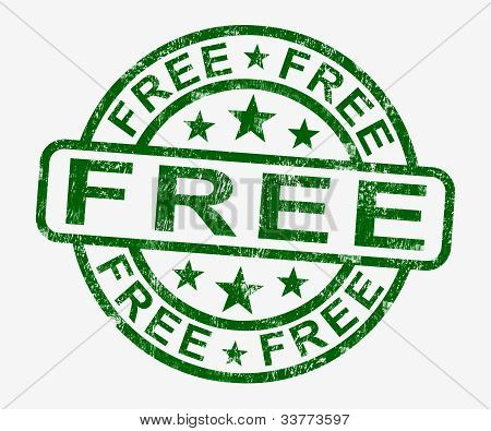 Free Stamp Showing Freebie And Promo