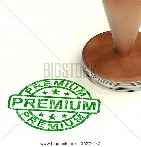 Premium Stamp Showing Excellent Superior Premium Product