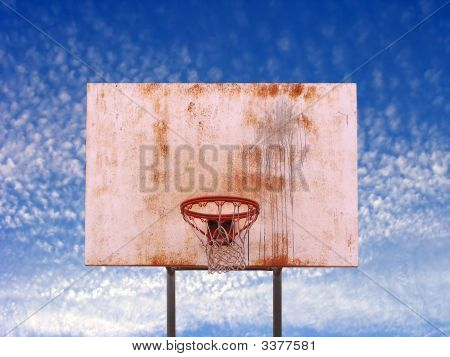 Isolated Basketball Hoop