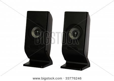 Black speaker isolated on white