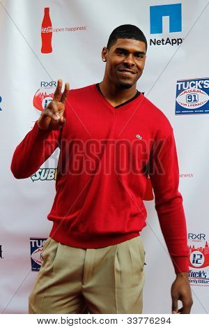 NEW YORK-MAY 31: New York Giants Ramses Barden attends the 4th annual Tuck�¢�?�?s Celebrity Billiards Tournament on May 31, 2012 in New York City.