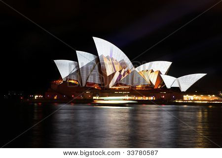 Opera House Australia During Vivid Sydney Festival