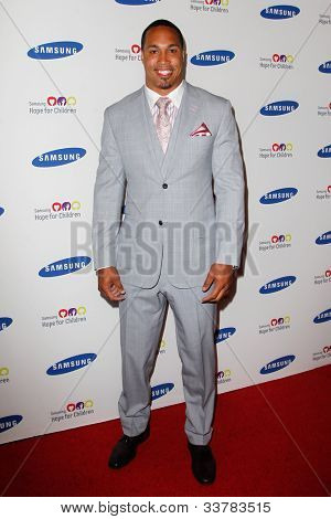 NEW YORK-JUNE 4: New York Giants player Travis Beckum attends Samsung's Annual Hope for Children gala at the American Museum of Natural History on June 4, 2012 in New York City.
