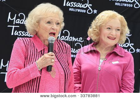 LOS ANGELES, CA - JUN 4: Betty White at the unveiling of Betty White's wax figure at Madame Tussauds Hollywood on June 4, 2012 in Los Angeles, California