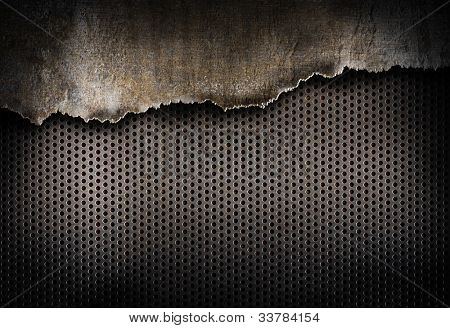 torn metal background