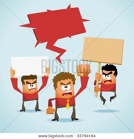 Protest Demonstration. Neat Vector illustration