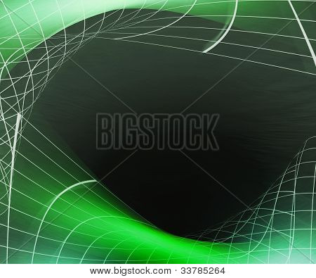 Green Net Abstract Background