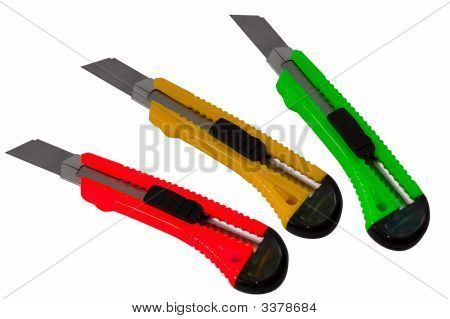 Traffic Lights Color Paper Cut Knives