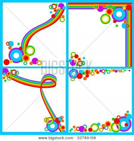 Set of rainbow backgrounds