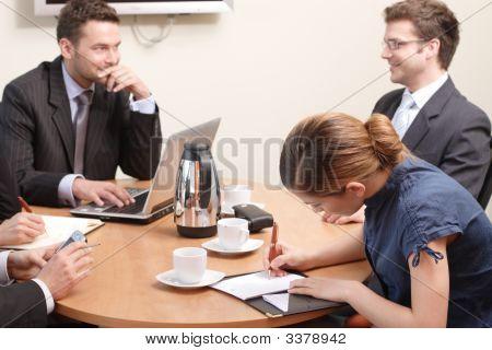 Auf dem Business-treffen