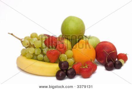 Isolated Fresh Fruit