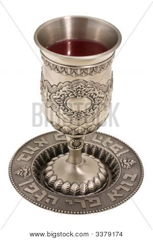 Kiddish Cup With Wine